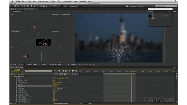 Set up a 3D rack focus with the After Effects camera: After Effects Compositing 02: Matching Foreground to Background