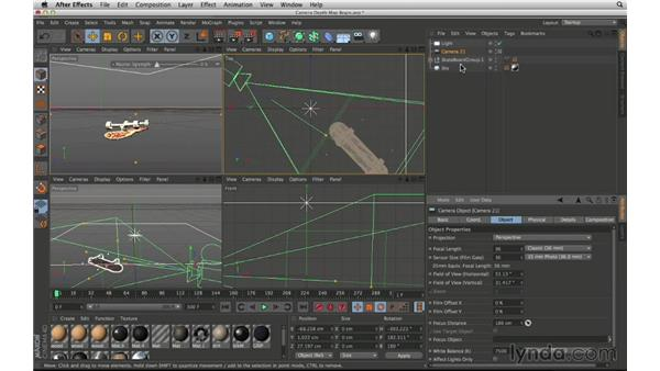 Add a 3D-generated depth map from CINEMA 4D: After Effects Compositing 02: Matching Foreground to Background