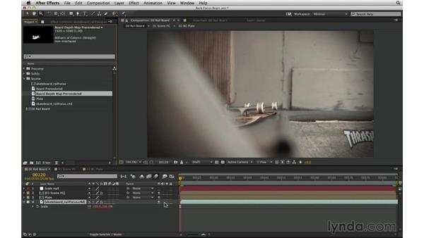 Rack focus with a 3D-generated depth map: After Effects Compositing 02: Matching Foreground to Background