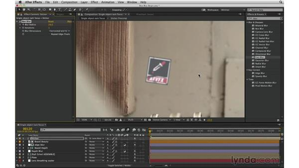 Add quick-and-dirty defocus with Box Blur: After Effects Compositing 02: Matching Foreground to Background
