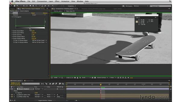 Match shadow grain and color with an adjustment layer: After Effects Compositing 02: Matching Foreground to Background