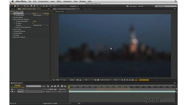 Reduce or remove grain with Neat Video: After Effects Compositing 02: Matching Foreground to Background