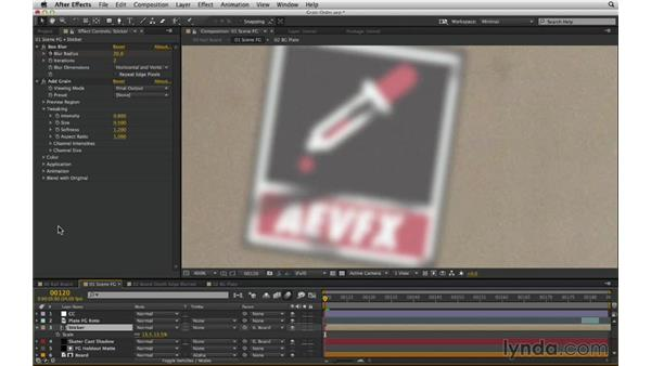 Manage the grain pipeline in a complex shot: After Effects Compositing 02: Matching Foreground to Background