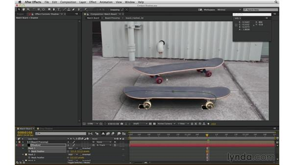 Customize a 2D drop shadow with a masked solid: After Effects Compositing 02: Matching Foreground to Background
