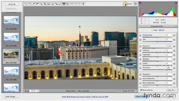 Adjusting the daytime RAW file: Shooting a Time-Lapse Movie from a Window