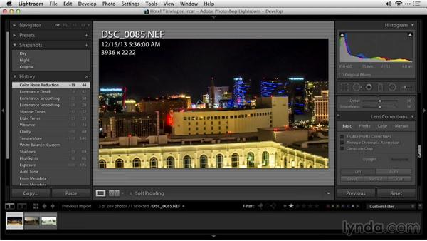 Color correcting and keyframing: Shooting a Time-Lapse Movie from a Window