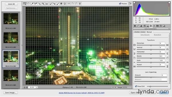 Distortion and perspective issues: Shooting a Time-Lapse Movie from a Window