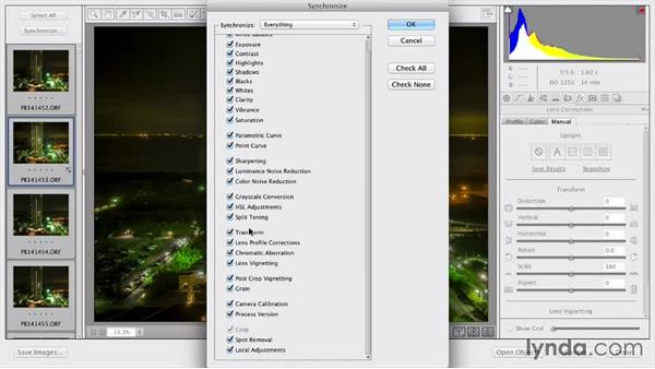 Distortion and perspective issues: Upright adjustment: Shooting a Time-Lapse Movie from a Window