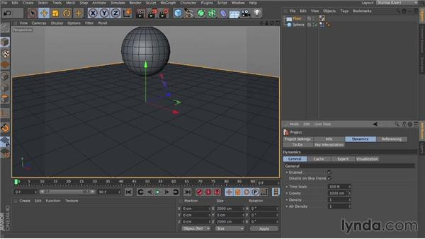 Making objects fall with gravity: Dynamics in CINEMA 4D
