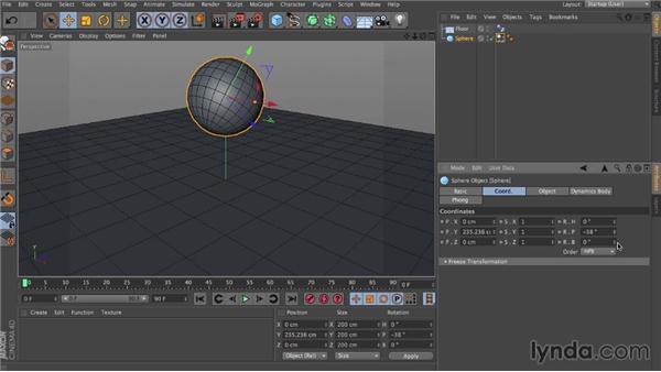 Initial velocity: Dynamics in CINEMA 4D