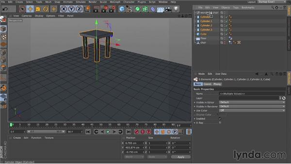 Compound dynamics and self-collisions: Dynamics in CINEMA 4D