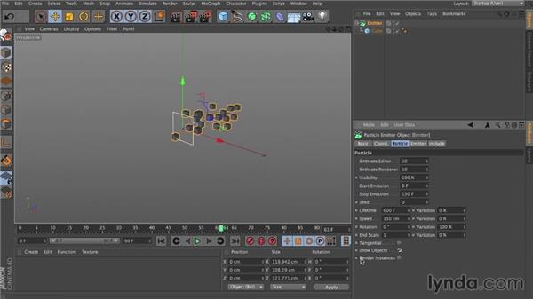 Standard particle dynamics: Dynamics in CINEMA 4D