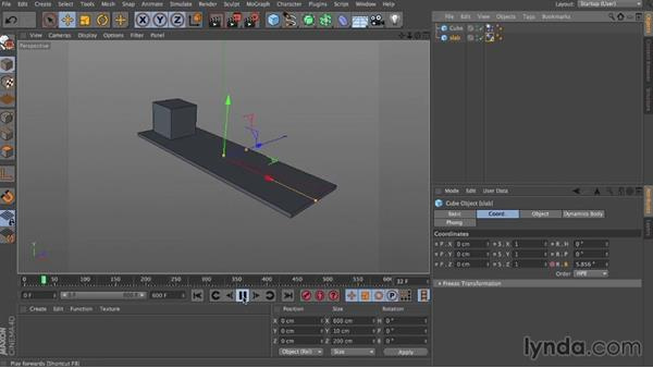 Friction: Dynamics in CINEMA 4D