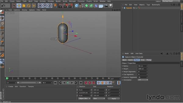 Center of gravity: Dynamics in CINEMA 4D