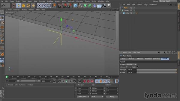 Trigger at peak velocity: Dynamics in CINEMA 4D