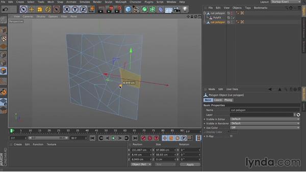 Creating broken glass: Dynamics in CINEMA 4D