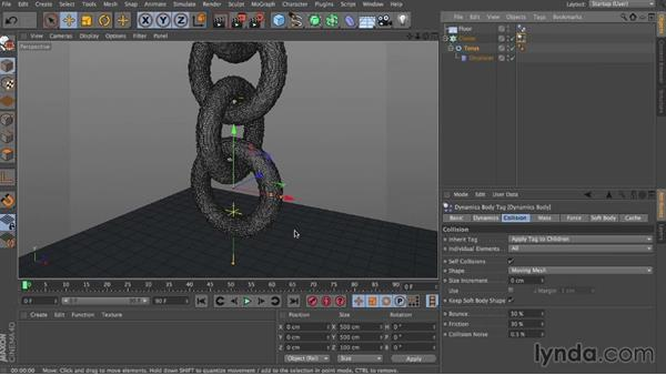 Reacting to another object: Dynamics in CINEMA 4D