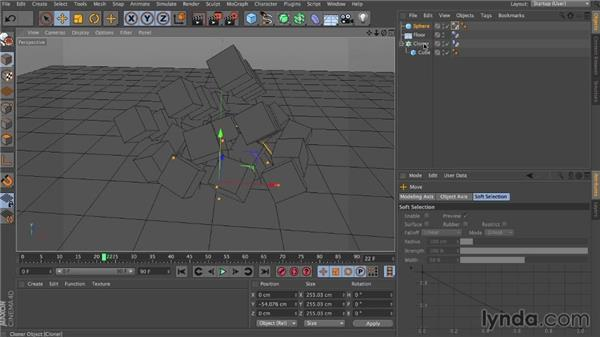 Baking and caches: Dynamics in CINEMA 4D