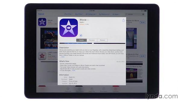 Installing iMovie: iMovie for iOS Essential Training
