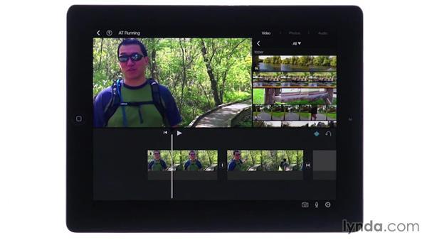 Adjusting clip audio levels: iMovie for iOS Essential Training