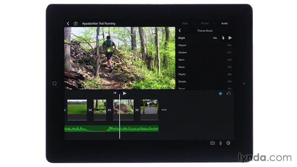 Adding background music: iMovie for iOS Essential Training