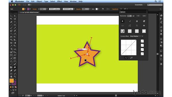 Working with drop shadows: Up and Running with Astute Graphics for Illustrator