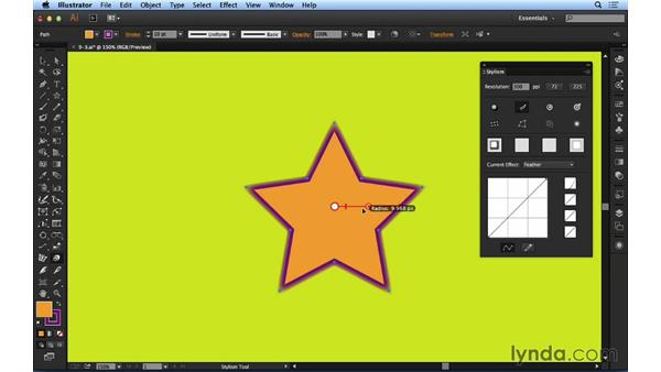 Working with feathering: Up and Running with Astute Graphics for Illustrator