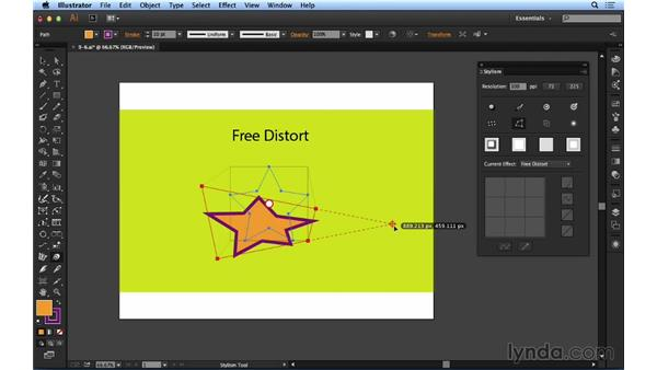 Working with Free Distort effects: Up and Running with Astute Graphics for Illustrator