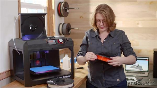 Loading the filament with the Replicator 5th Generation: Getting Started with MakerBot 3D Printers