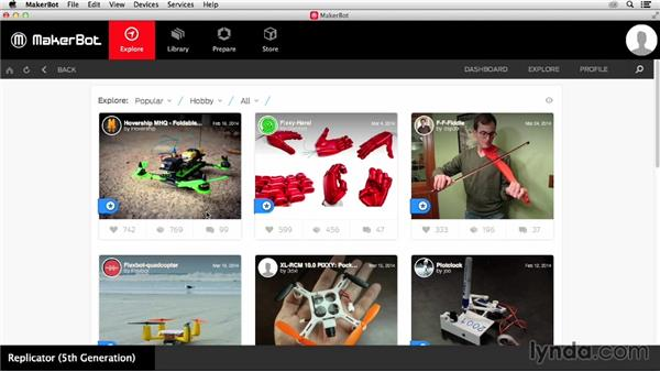 Exploring and downloading: Getting Started with MakerBot 3D Printers
