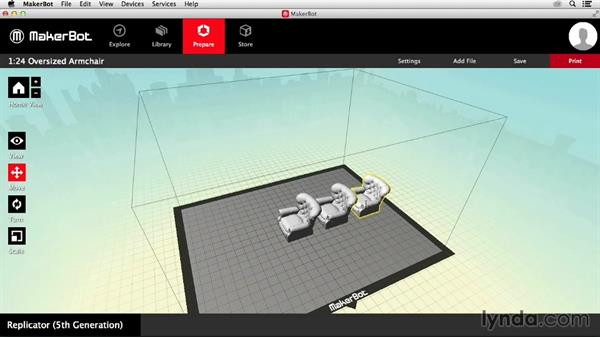 Orienting a design: Getting Started with MakerBot 3D Printers