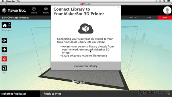 Printing via direct connection: Getting Started with MakerBot 3D Printers