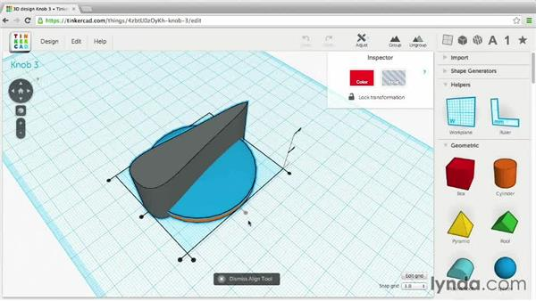 Grouping and aligning: 3D Printing Project: Designing a Replacement Part