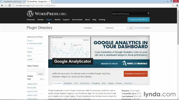 Installing and activating Google Analyticator: WordPress Plugins: Analytics