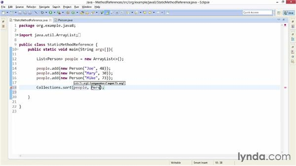 Traversing collections with method references: Java SE 8 New Features