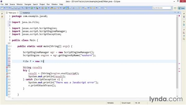 Writing JavaScript for Nashorn: Java SE 8 New Features