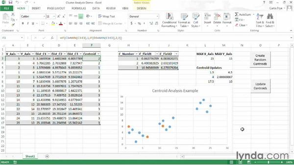 What does cluster analysis look like in Excel?: Up and Running with Excel Cluster Analysis
