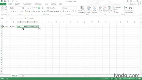 Setting up your Excel table: Up and Running with Excel Cluster Analysis