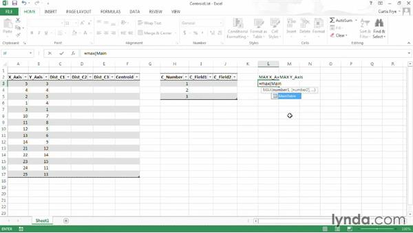 Creating a list of random centroids: Up and Running with Excel Cluster Analysis