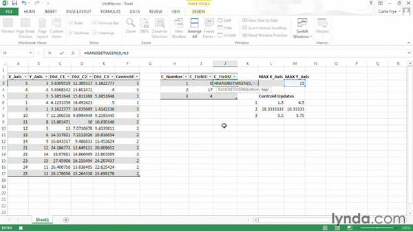 Automating updates using macros: Up and Running with Excel Cluster Analysis