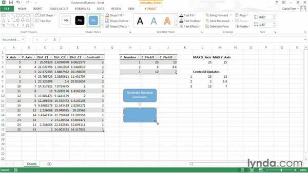 Running macros using command buttons: Up and Running with Excel Cluster Analysis