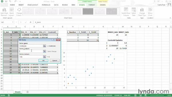 Visualizing table data in a chart: Up and Running with Excel Cluster Analysis