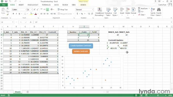 Troubleshooting a cluster analysis workbook: Up and Running with Excel Cluster Analysis