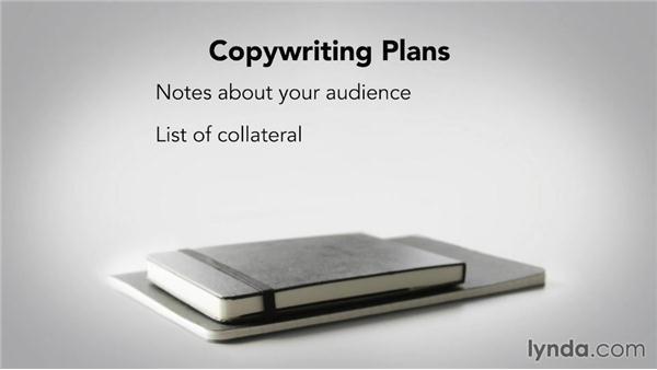 Creating the plan: Writing Marketing Copy