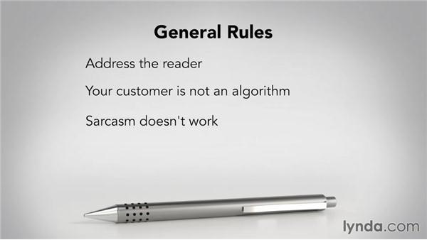 Observing general rules: Writing Marketing Copy