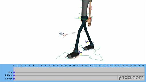 Cycling the feet in a walk: Character Animation: Locomotion