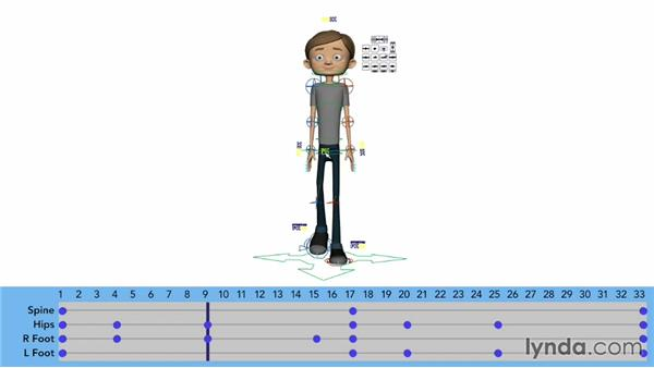 Animating the spine in a walk: Character Animation: Locomotion