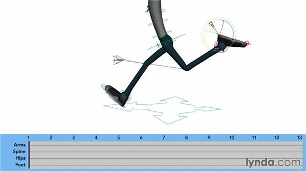 Start with the extended position: Character Animation: Locomotion