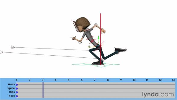 Animating the cushion position: Character Animation: Locomotion