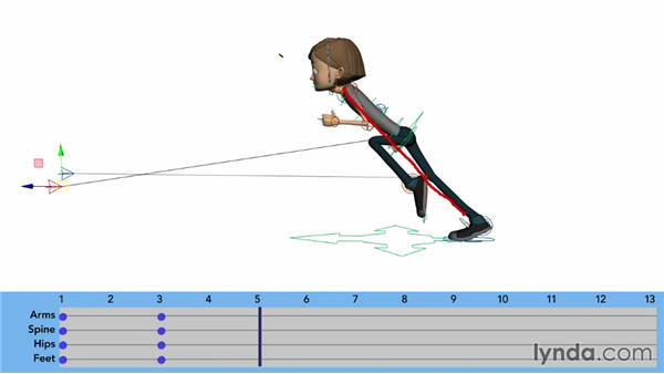 Animating the stretch position: Character Animation: Locomotion